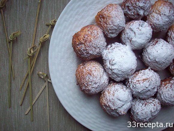 Творожные пончики за 10 минут (жареные в масле)