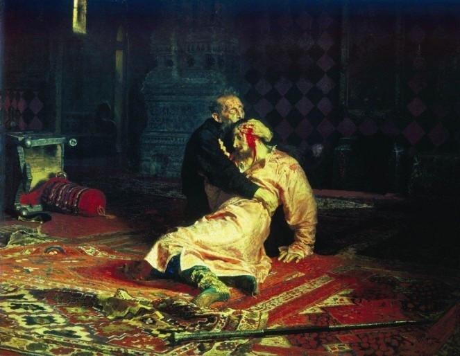 Илья Репин - Иван Грозный и сын его Иван  Васнецов, картины, репин, художники