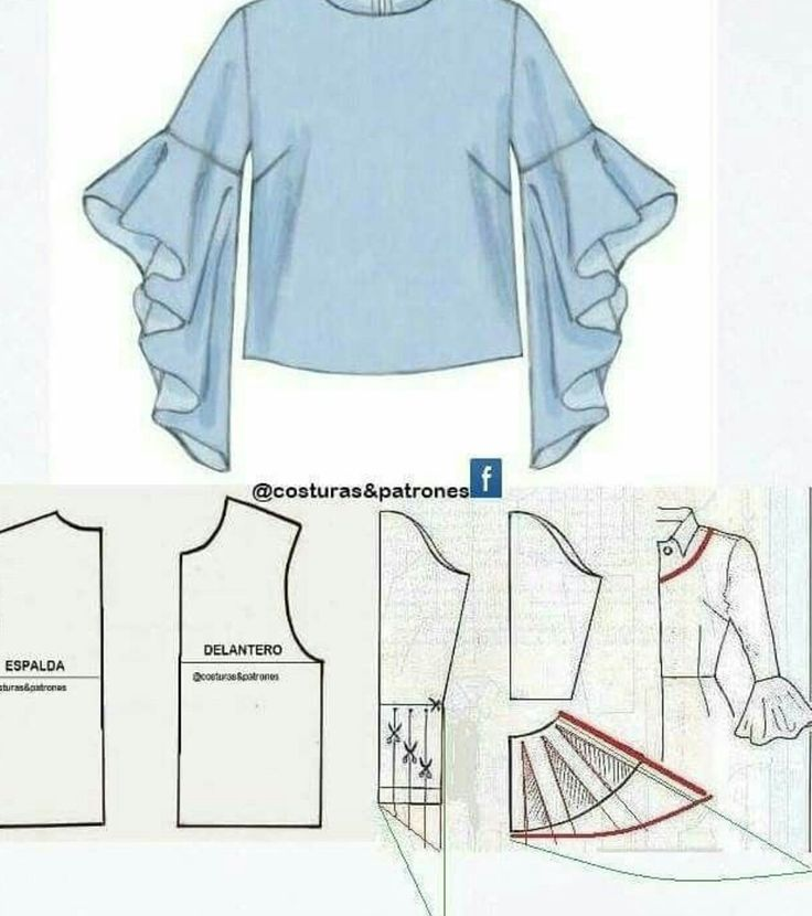 Платье с воланом или кофточка: моделирование 5