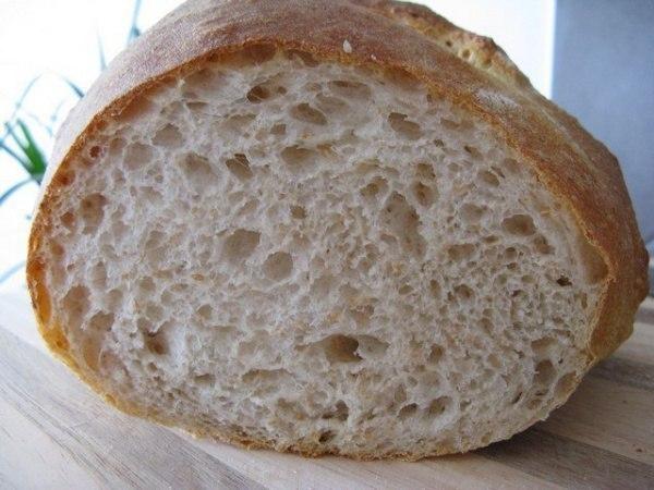 Хрустящий и вкусный хлеб без замеса. Вечером размешала тесто, а утром испекла!