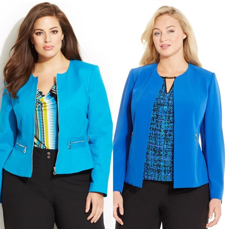 Модные женские пиджаки для полных женщин