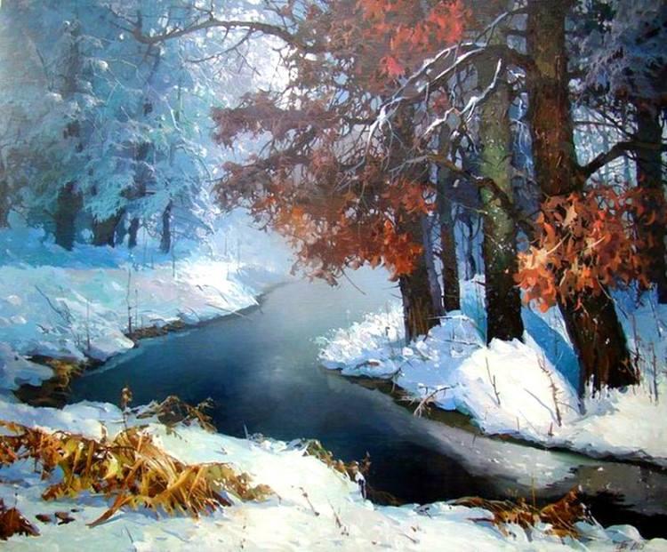 """"""" Дремлет лес под сказку сна..."""" - невероятная реалистичность и сказочная воздушность зимних пейзажей Виктора Быкова"""