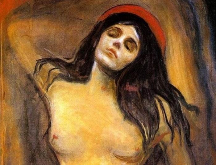 Эдвард Мунк. Мадонна, 1894-1895. Фрагмент | Фото: artchive.ru