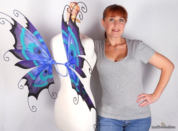 Из чего сделать крылья бабочки своими руками из ткани для костюма