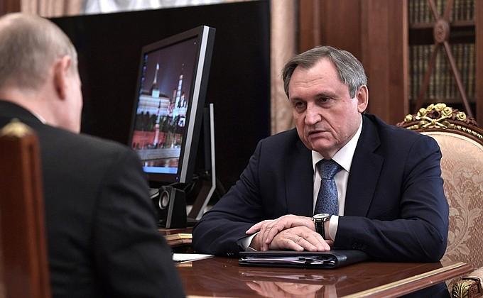 Встреча с главой компании «РусГидро» Николаем Шульгиновым