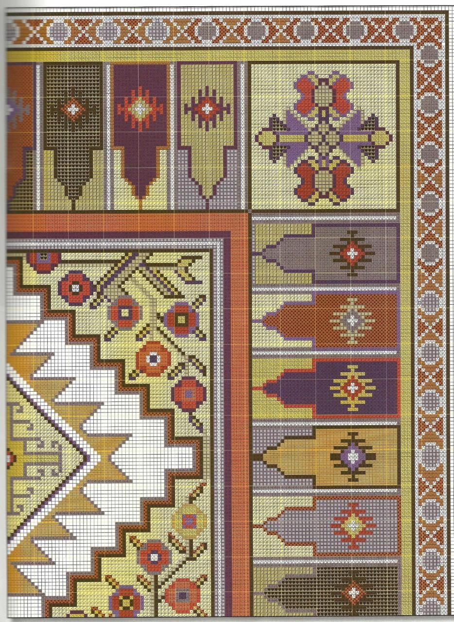 Подушки в восточном стиле - вышивка крестом схема 2