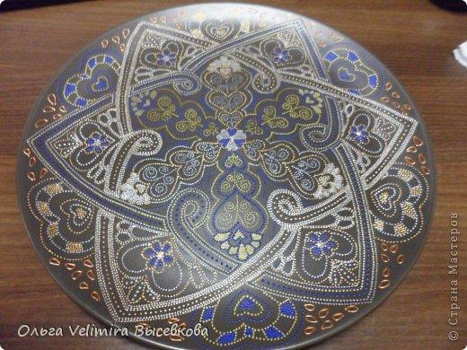 Декор предметов Роспись Тарелка Сердце Востока МК для начинающих Краска Стекло фото 15