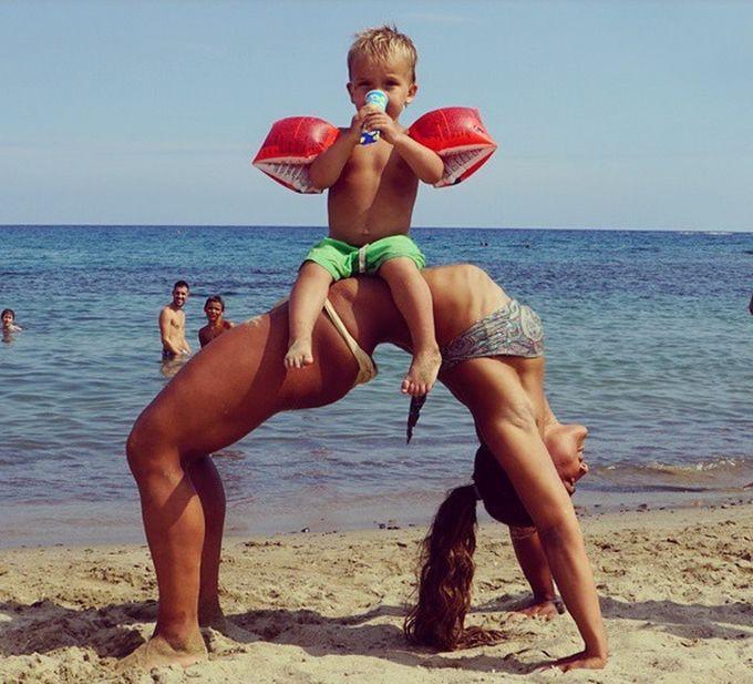 Фитнес-мамы, которым хочется подражать