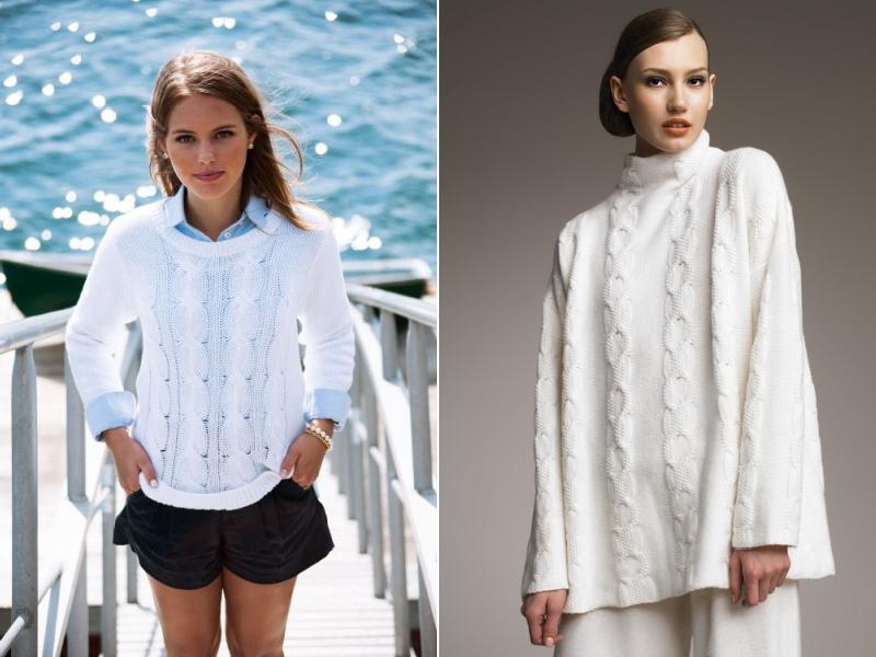 Белый свитер - с чем носить?