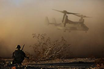 В Сирии разбился американский «V-22 Osprey» , перевозивший морскую пехоту