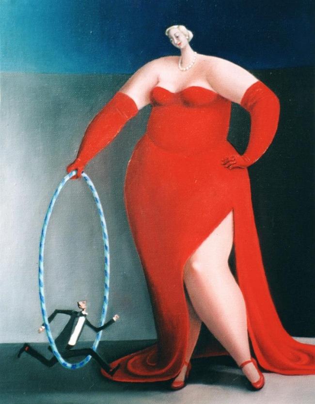 22 картины от художницы, которая считает, что толстушки счастливее худых