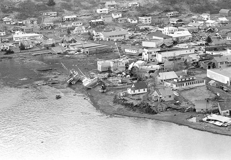 Землетрясение и цунами на Аляске, 1964 год вода, интересное, познавательное