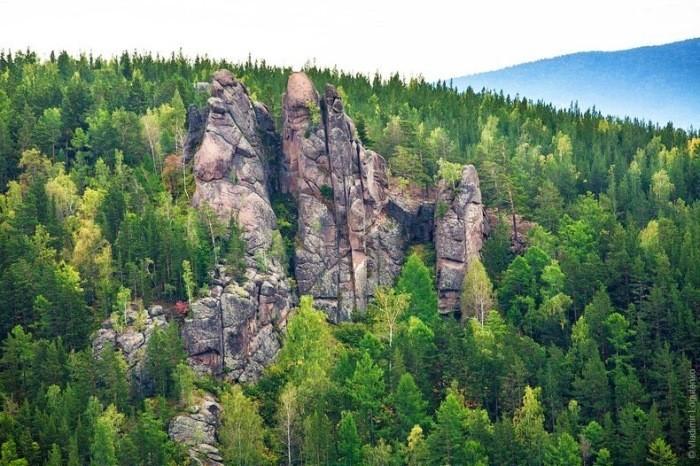 Невероятные столбы – достопримечательности, которые можно увидеть в России природа, россия, столбы, феномен