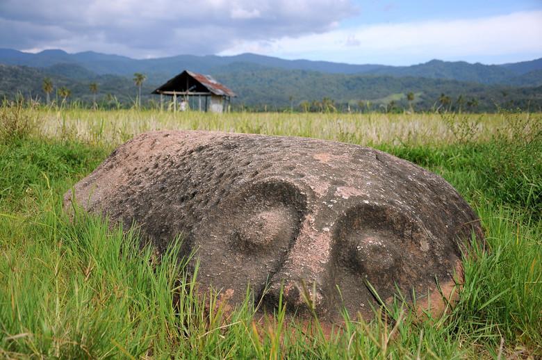 Необычные каменные истуканы Сулавеси
