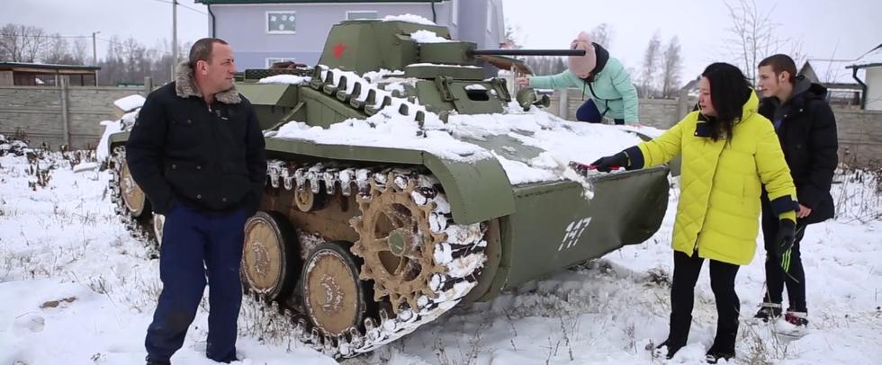 Белорус собрал танк в гараже