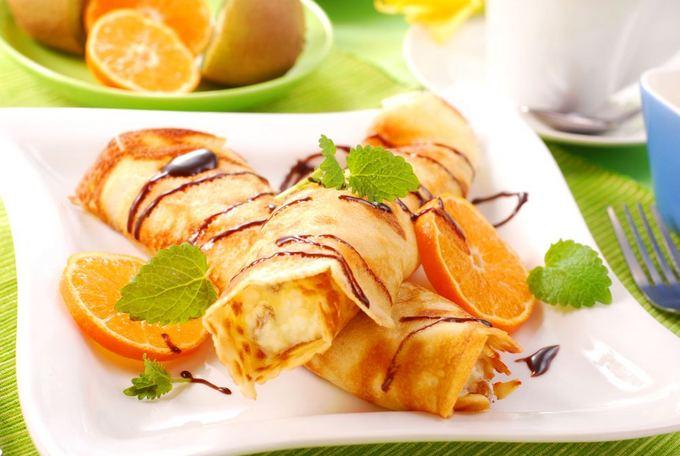 Апельсиновые блины из рикотты