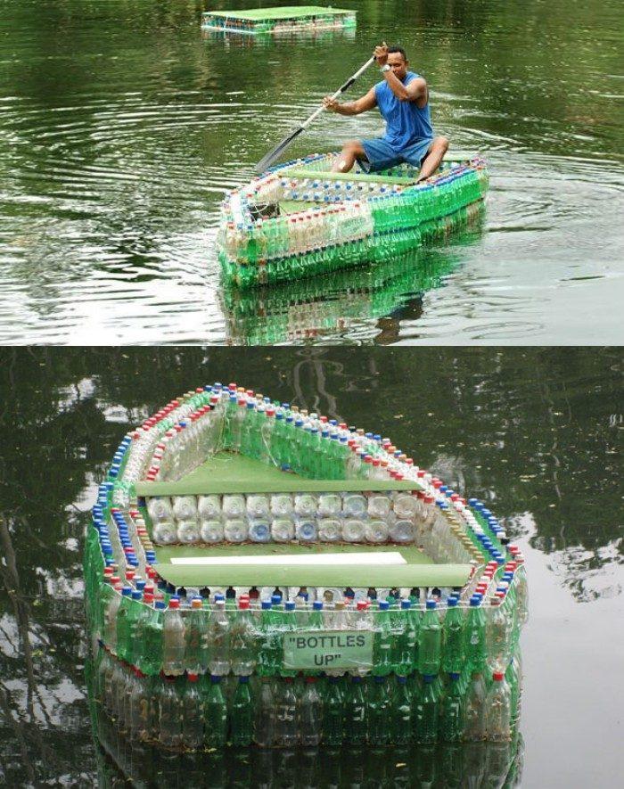 Как из пластиковой бутылки сделать лодку 338