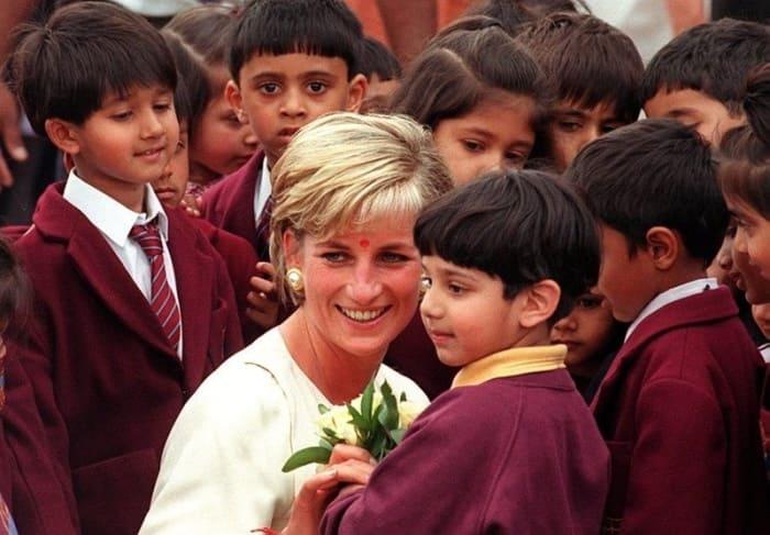 Принцесса Диана в Индии | Фото: style.nv.ua