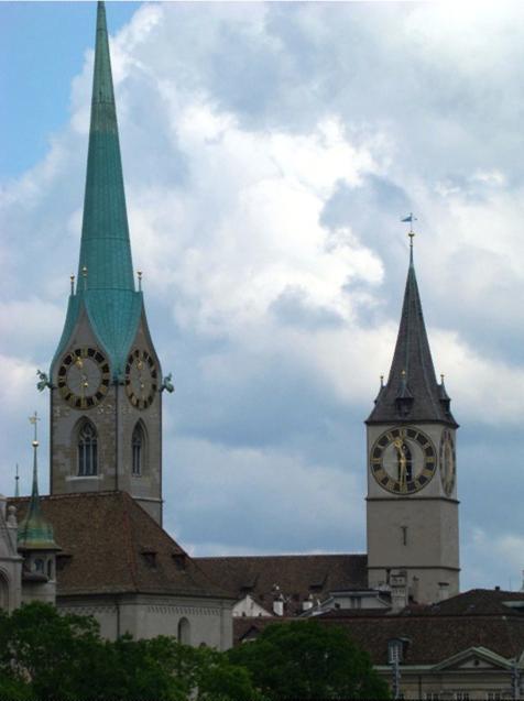 Церковь святого Петра и Фраумюнстер в Цюрихе