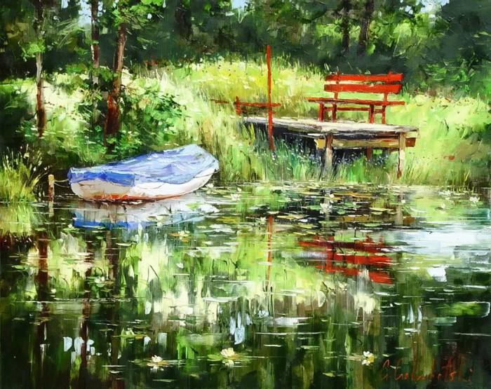 Прелестные пейзажи и натюрморты художника Глеба Голубецкого