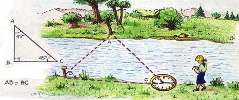 Как измерить ширину русла, не пересекая реку?