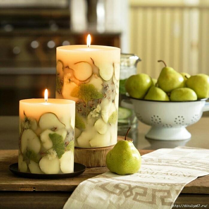Фруктовое - цветочные свечи …