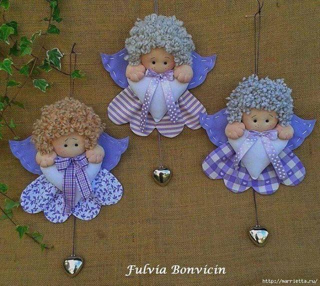 Ангелочки своими руками фото
