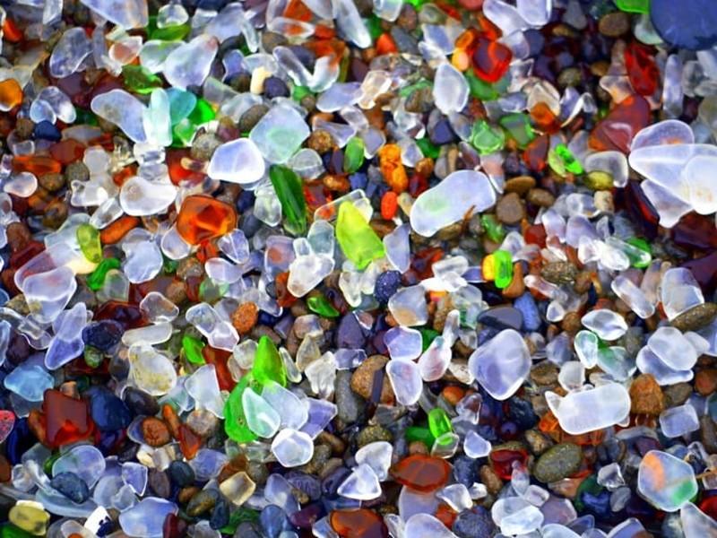 5. Стеклянный пляж, Калифорния, США загадка, земля, природа, явление