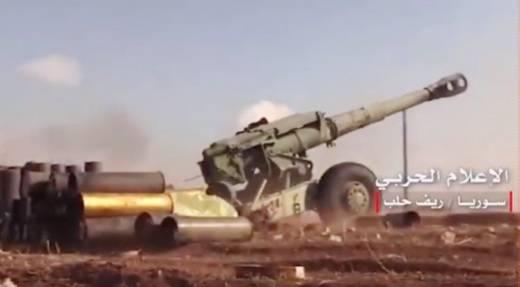 В Сирии на позициях проасадовских формирований замечены 152-мм пушки-гаубицы Д-20