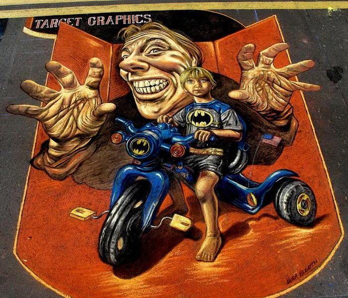 Трехмерные картины на улицах Vera Bugatti