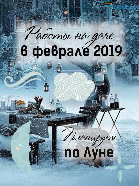 Лунный календарь для растений на февраль 2019 год.
