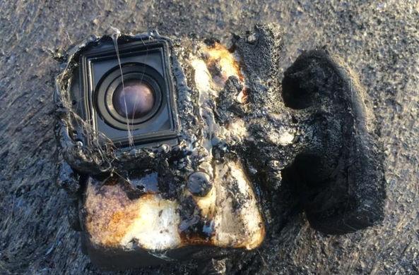 Камера GoPro «пережила» купание в лаве и сняла это на видео