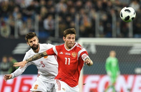 Мутко недоволен арбитрами футбольного матча между сборными России иИспании