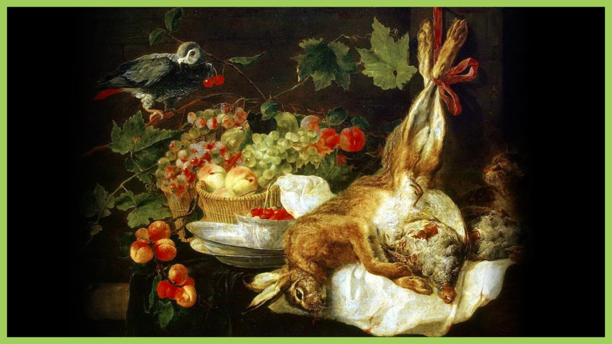 ЕДА КАК ИСКУССТВО. Кролик с перепелками, тыквой и персиками
