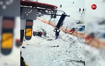 Четверо россиян пострадали в аварии на канатной дороге в Грузии