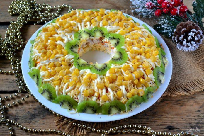 Куриный салат на Новый год! Лучшее на Вашем столе!