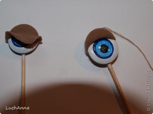 Изготовить глаза кукле своими руками
