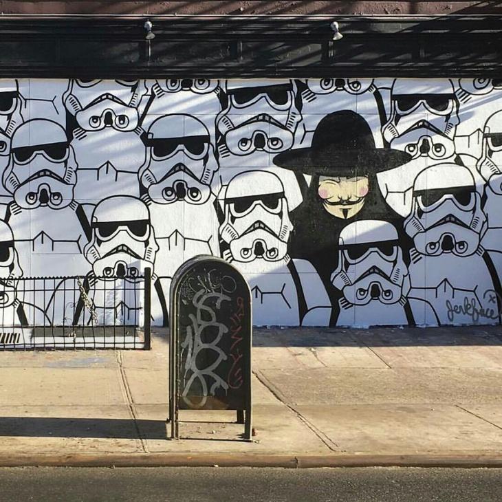 Уличный художник Jerkface