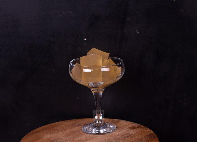 Коктейли с шампанским. Желе из шампанского: сервировка