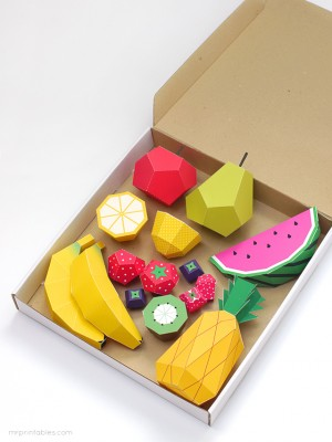 МАСТЕРИЛКА. Забавные объёмные поделки из бумаги: сочные фрукты