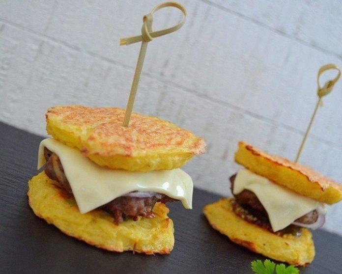 Удивительно вкусные картофельные бургеры с мясом. Блюдо дня!