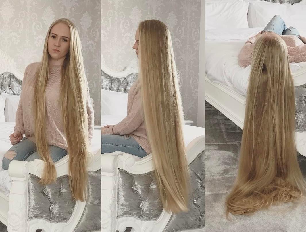 Девушка отращивала волосы 17 лет