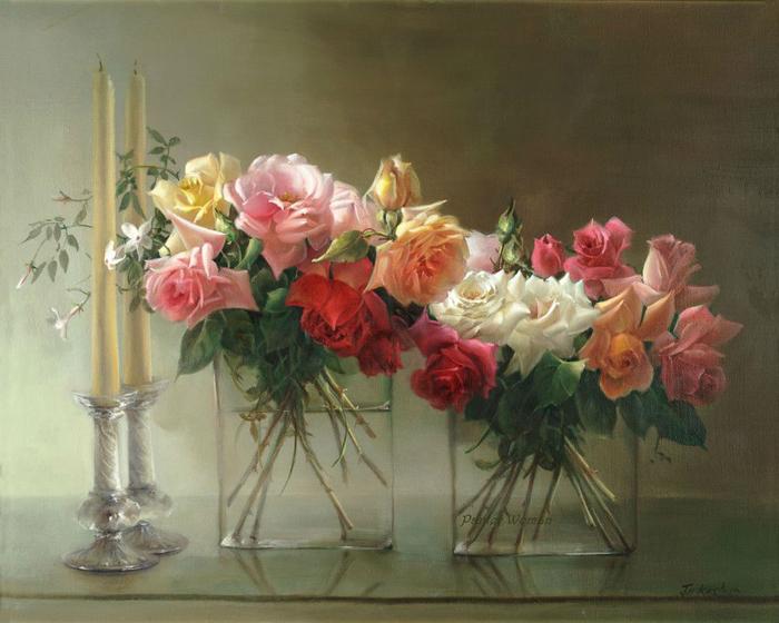 Цветы чисты, красивы и невинны... Натюрморты от Jill Kirstein