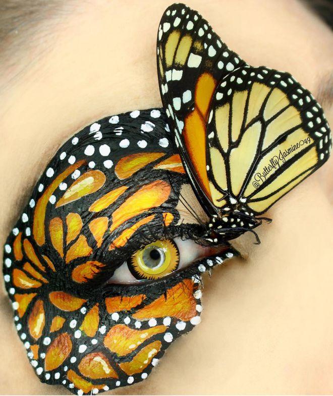 Визажист использует для макияжа насекомых, и это жутко до мурашек по коже!