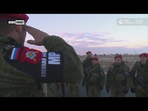 Опубликовано видео прибытия российской военной полиции в Алеппо