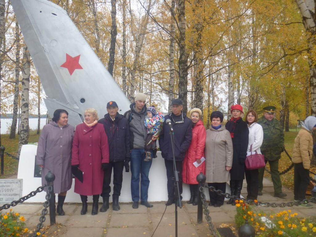 Открытие новой мемориальной доски на памятнике К.Журину.