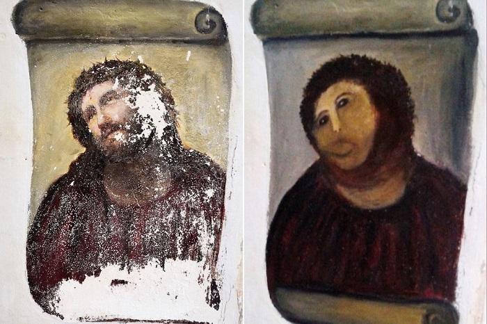 Иисус или картофелина? Как испорченная фреска обогатила целый город