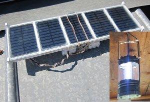 Самодельная солнечная панель - светодиодный светильник для дачи