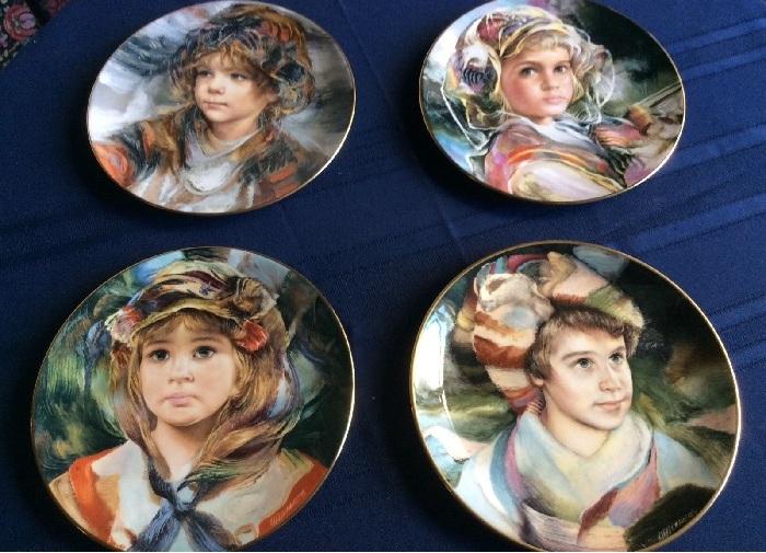 Романтические портреты детей на декоративных тарелках английской фарфоровой компании Royal Doulton. |Фото: pinterest.com