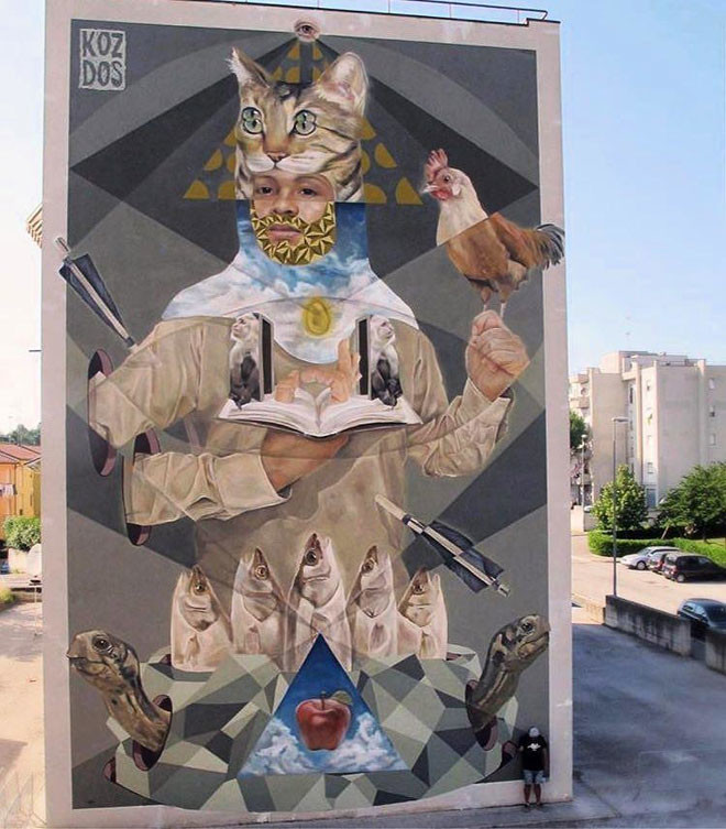 Koz Dos (Венесуэла) в мире, граффити, интересное, искусство, подборка, стрит-арт, уличное искусство
